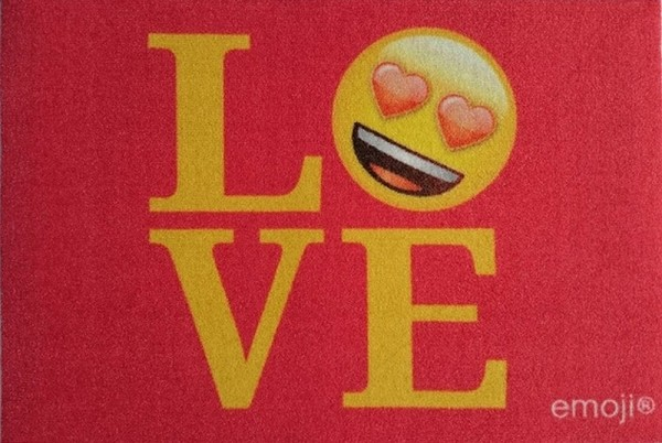 "Rockbites - Fußmatte ""Emoji - Love"" Türmatte Fußabstreifer (100919) Nr.113"