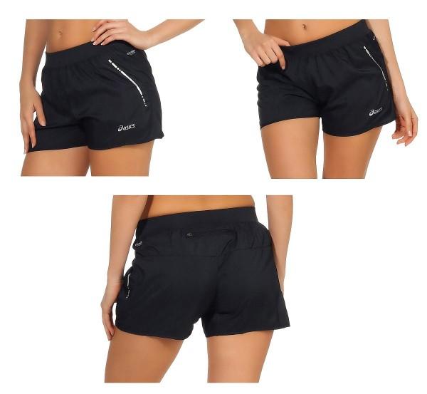 Auswahl ASICS Damen Performance Running Shorts Laufhose Laufshort schwarz 110428