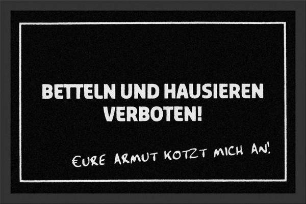 """Rockbites Fußmatte """"Betteln & Hausieren verboten"""" Fußabstreifer 40 (100727)"""