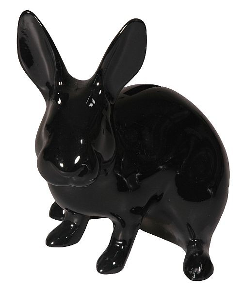 Cabanaz - Spardose Hase, schwarz