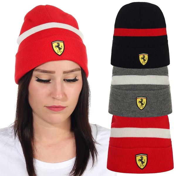 Ferrari Mütze Beanie Strickmütze Scuderia Ferrari F1