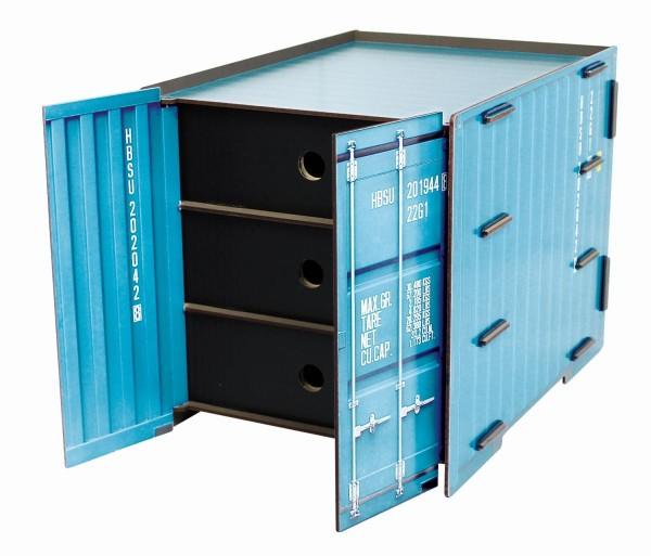 """Werkhaus - Ablage """"Container"""" Türkis 3 Schubladen Briefablage Ablagebox CO1093"""