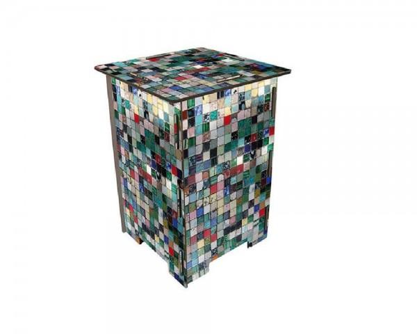 Werkhaus - Hocker Mosaiksteine, Photohocker Sitzmöbel Sitzhocker Stuhl