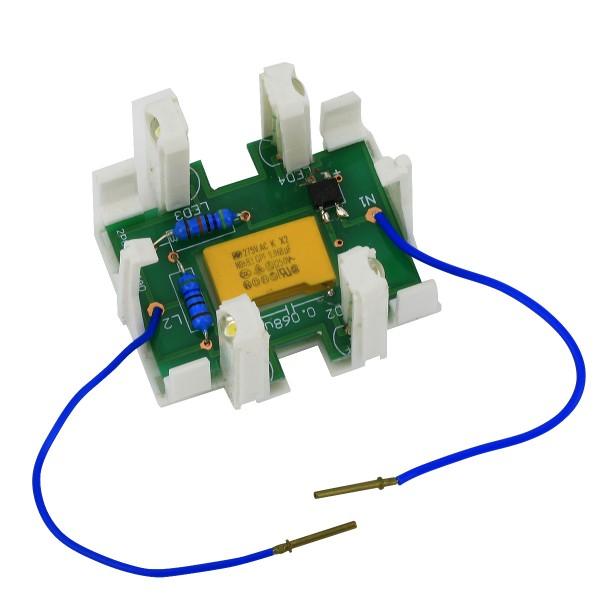 REV Ascoli Beleuchtungs-LED-Modul mit Ring Gelb und Blau 9250 für Lichtschalter