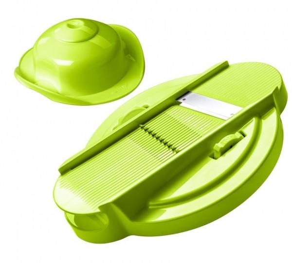 Genius Reibe 21260 Cutter 2 tlg. Grün Hobel Küchenreibe Gemüsehobel