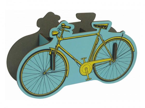 Werkhaus - Stiftebox Fahrrad PP3403 Gelb Herren- Zwei- Rad Stifte- Köcher Halter