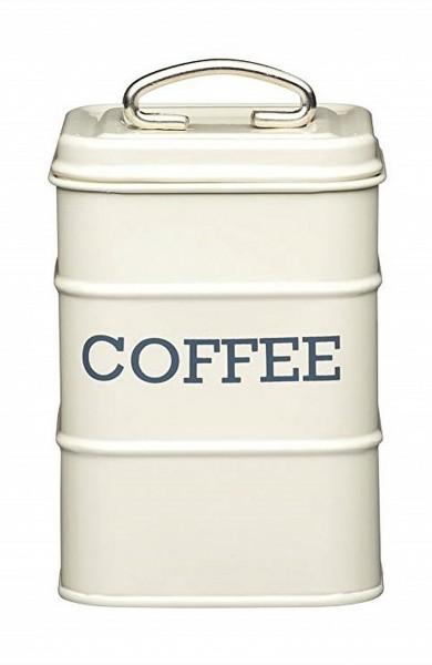 KitchenCraft - Kaffeedose Vorratsdose Vorratsbehälter cremefarben LNCOFFEECRE