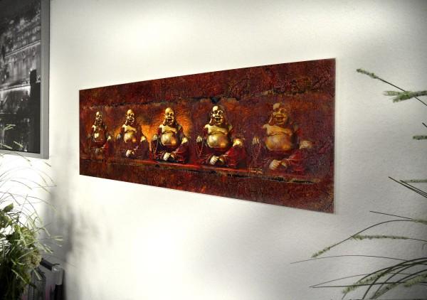 """Glasbild """"Budda"""" 95x33cm, Glasbilder Wandbild Bild Deko 12342"""