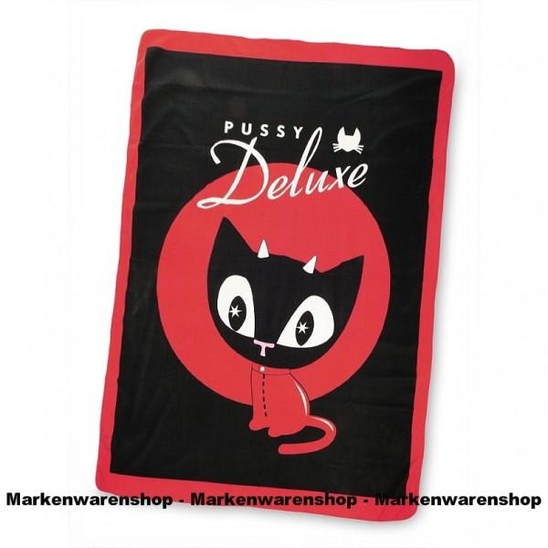 Pussy Deluxe Fleecedecke Devil Kitten, 150x200 cm, Kuscheldecke