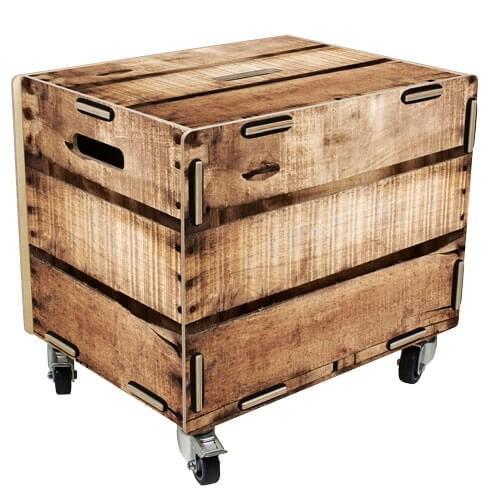 Werkhaus Rollbox Weinkiste Rollcontainer Tisch Box RB6007