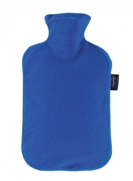 Fashy - Wärmflasche Flausch Vliesbezug Blau Saphirblau Bettflasche Fleecebezug
