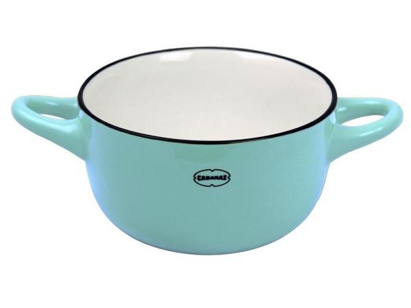 Cabanaz - Schüssel Keramik Blau (1201715) Schale Müslischale Dessertschale Retro