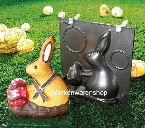 "Dr. Oetker - Vollbackform 3D-Form ""Hugo Hase"" 1840 Oster- Hase- Back- Form"