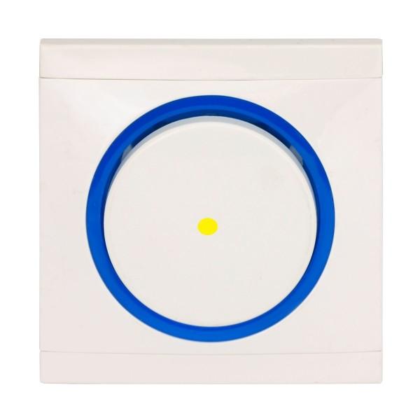 REV Ascoli weiß/blau Kontroll-Wechselschalter inkl. Rahmen 924104 Lichtschalter