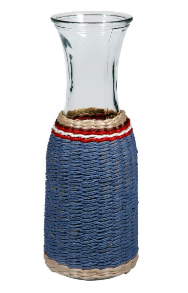 Cabanaz - Glaskaraffe Wasserkanne Blau (1500130) Krug Glaskrug Dekanter Karaffe