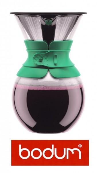 """Bodum Pour Over """"Grün"""" Kaffeebereiter mit Permanentfilter 1,0 Liter Kaffeefilter"""