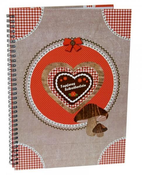 Hütt'n Gaudi Spiral Notizbuch A4 Tapferes Schreiberlein 10457400 Spiralbuch