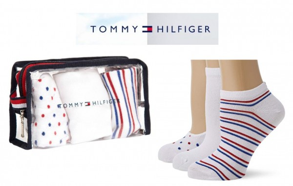 Tommy Hilfiger Damen Füßlinge, Socken, Strümpfe (3er Pack)