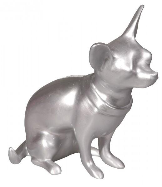 Cabanaz The Zoo - Spardose Hund Chihuahua Silber 1101125 Sparbüchse Sparschwein