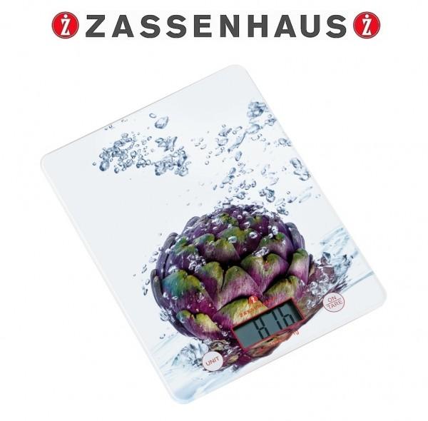 Zassenhaus - digitale Küchenwaage BALANCE Artischocke 073324 Digitalwaage