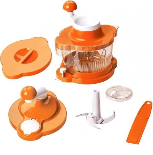 Genius 21254 Mixer Cutter Multitalent 6 tlg. Orange Küchenmaschine Rührgerät