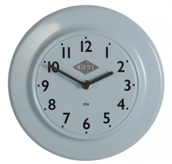 """Laursen - Wanduhr """"CPH 1936"""" Blau Ø 24cm (0700-68) Retro Uhr Küchenuhr Bürouhr"""