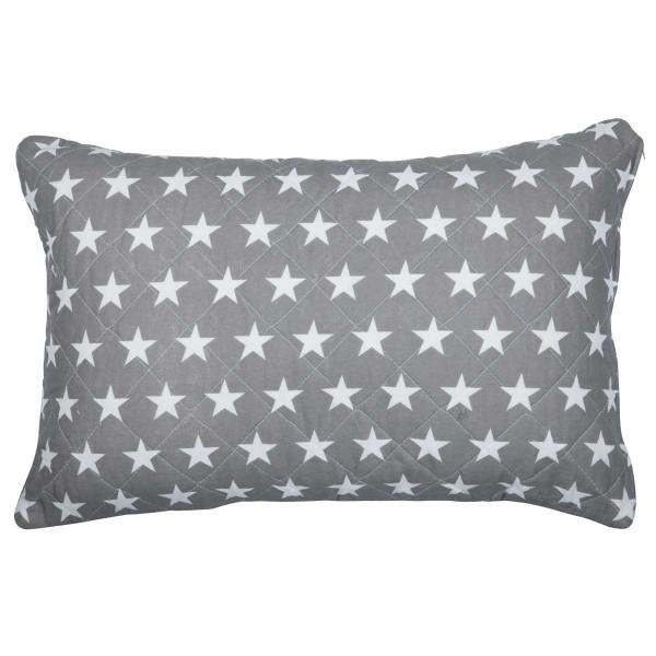 Kissenbezug Kissenhülle New England Grau Weiß Sterne 60x40cm Ib Laursen 0702-18