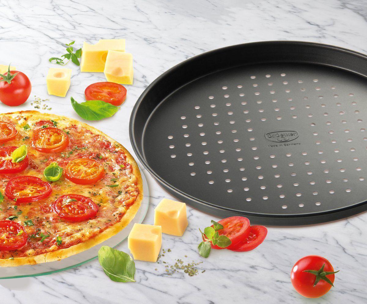Pizza- Back- Blech Rund Oetker Dr 1451 Tradition Aufback-Pizzablech Ø 28cm