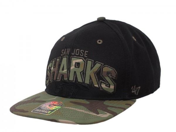 "47 Brand - NHL Cap Basecap Kappe Mütze Eishockey ""San Jose Sharks"" (Nr. 44)"