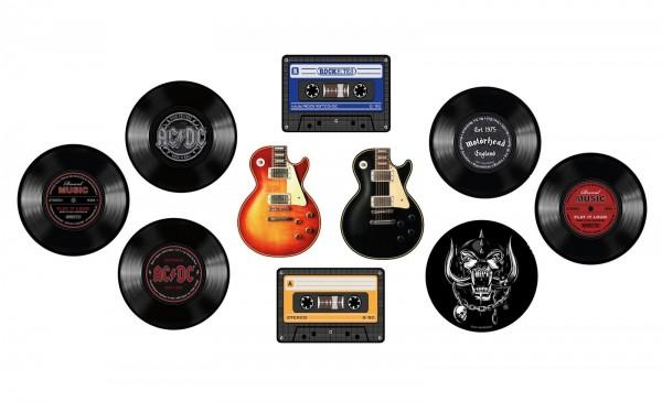 Rockbites - Motivwahl Mousepad - Schallplatte Gitarre MC AC/DC Motörhead Mauspad
