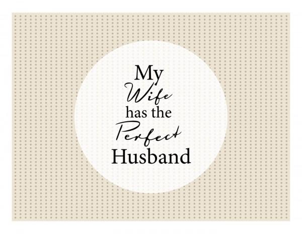 """Matteo - Tischmatte """"Perfect Husband"""" Vinyl 866764 Platzmatte Platzset Tischset"""