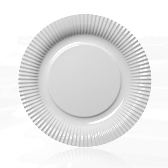 Contento - Picnic Fast Food Teller Ø23cm weiß (656454) Grillteller Campingteller