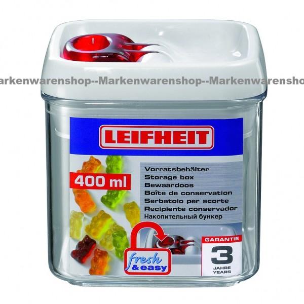 Leifheit Vorratsbehälter, Vorratsdose fresh & easy 0,4L eckig