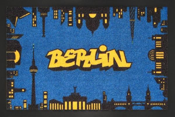 """Rockbites - Fußmatte """"Berlin bei Nacht"""" Türmatte Fußabstreifer (100859) Nr.105"""