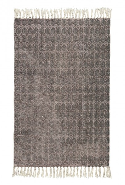 Ib Laursen - Teppich 85x55cm Muster Grau Malve Matte Läufer Bodenmatte 6859-00