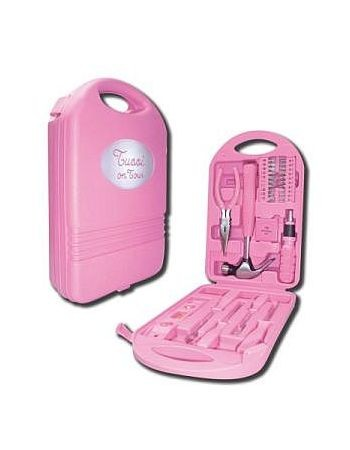 NEU Tussi on Tour Werkzeugkoffer Werkzeug Werkzeugset 28tlg. Pink