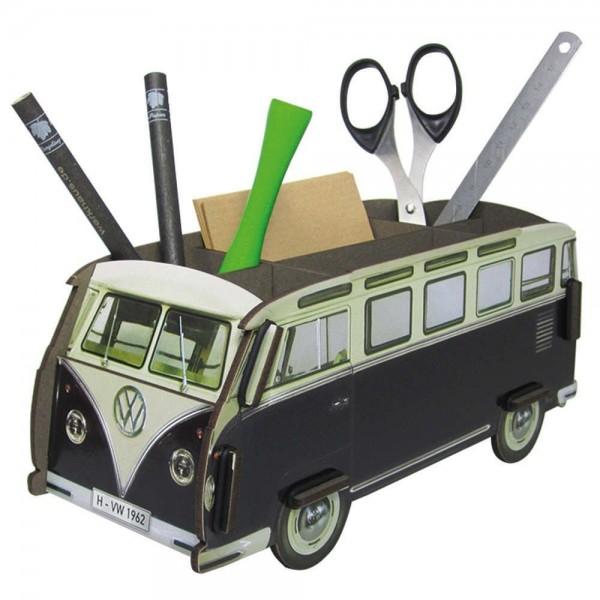 Werkhaus - Stiftebox VW Bus Bulli Schwarz (WE2015) Stifteköcher Stiftehalter