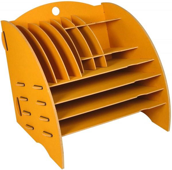 Werkhaus - Ablage Big Organizer Gelb Briefablage Stiftehalter Schreibtisch