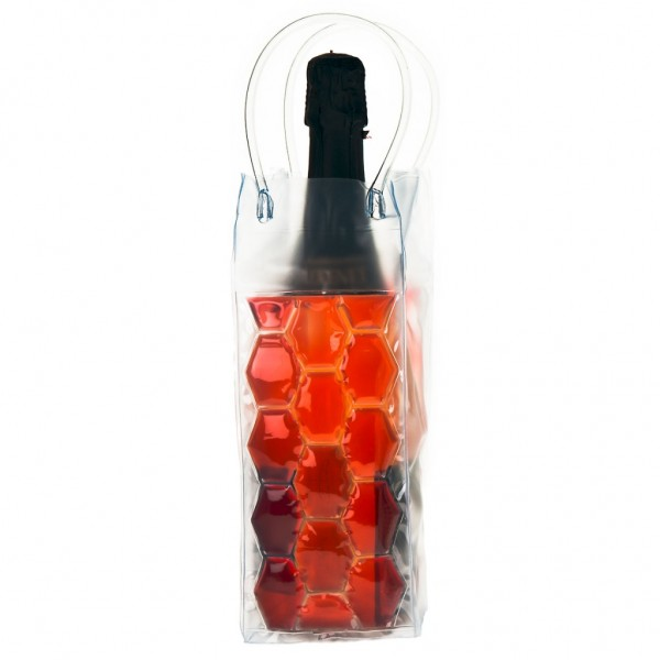 Genius - Flaschenkühler Sektkühler Weinkühler Kühltasche rot 15079