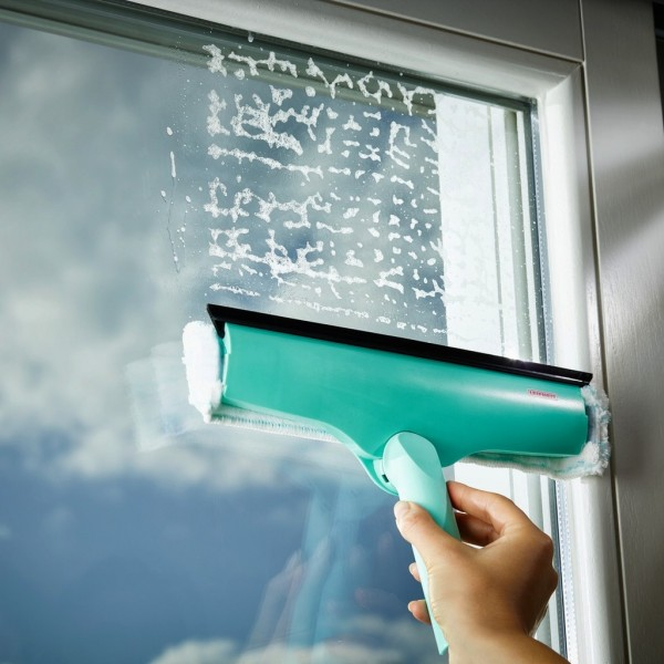 Leifheit - Fensterwischer 3 in 1 Fensterreiniger 28cm Fenster Abzieher 51320