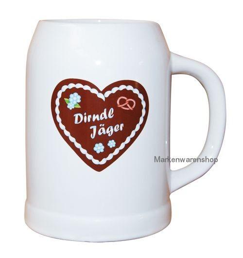 Trend Import - Bierkrug Dirndl Jäger Hüttengaudi 500ml Keramik (10517100)