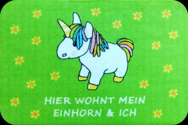 """Rockbites - Fußmatte """"Hier wohnt mein Einhorn und Ich"""" Türmatte Nr.126 (100958)"""