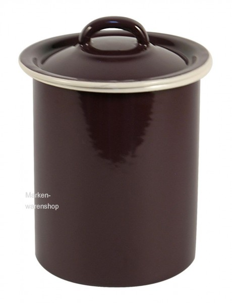 Vorratsdose Vorratsbehälter Küche 1600ml Emaille Lila Vintage Ib Laursen 0472-06