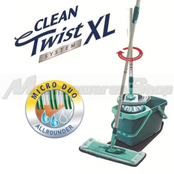 Leifheit Clean Twist System XL Micro Duo, Bodenwischer, Wischer