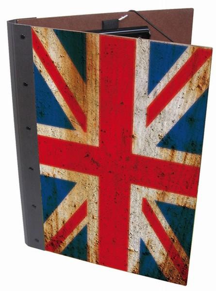 "Werkhaus - Mappe A4 ""Flagge England"" (PM8148) Schreibmappe Klemmmappe Klemmbrett"