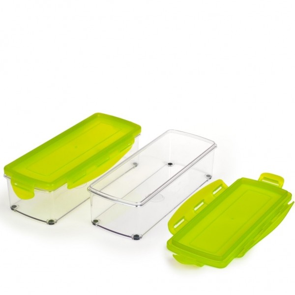 Genius Nicer Dicer Kompakt/Smart Behälter Set mit Deckel Auffangbehälter 33556