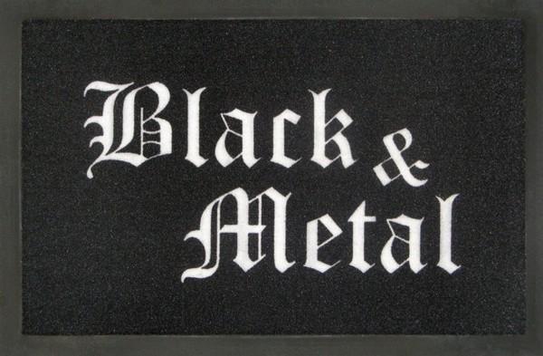 """Rockbites - Fußmatte """"Black & Metal"""" Schwarz Weiß Nr.169 (100828) Türmatte"""