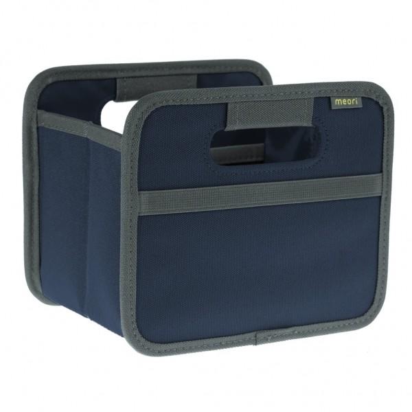 Meori - Faltbox Mini Aufbewahrungsbox Klappbox Marine Blau A100102