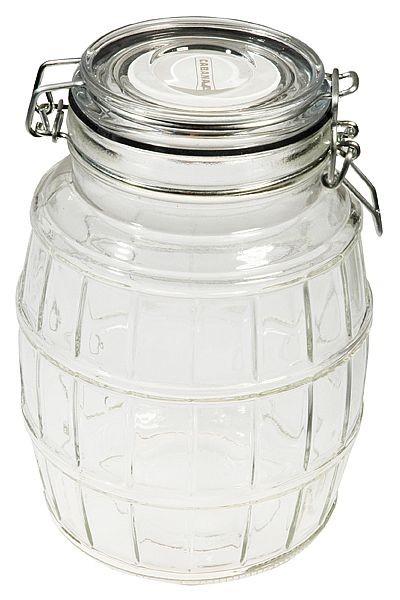 Cabanaz - Glasdose Vorratsdose Dose Bonboniere, weiß