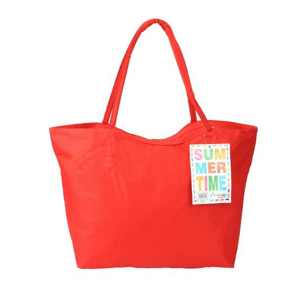 Antonio - XXL Strandtasche Summer-Time Rot Badetasche Tasche Umhängetasche Nr.36